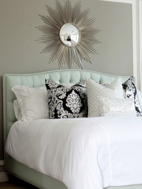 Example of a minimalist bedroom design in Los Angeles - Mint And Grey Houzz