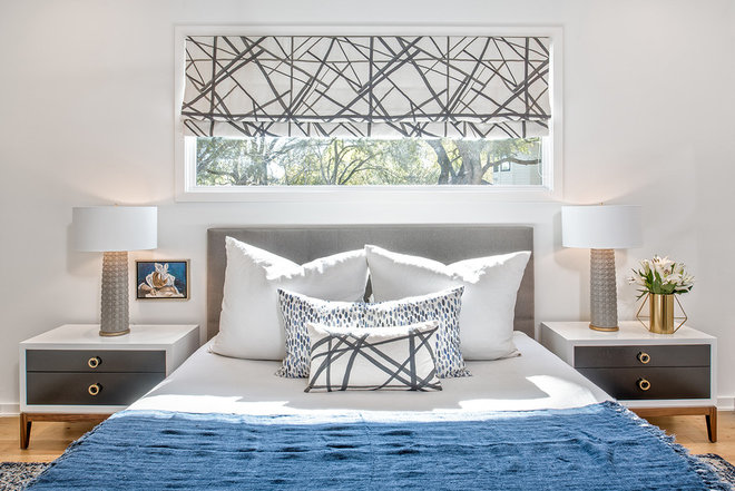 Transitional Bedroom by Christen Ales Interior Design