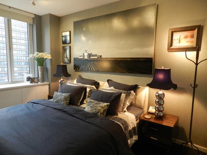 Contemporary Bedroom by Frances Bailey