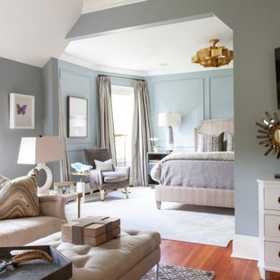 Inspiration for a transitional bedroom remodel in New York