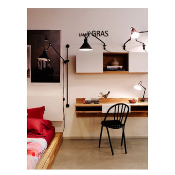 LAXseries Wall Mounted Desk, 3X Wall Mounted Shelf, Platform Bed, and Storage He