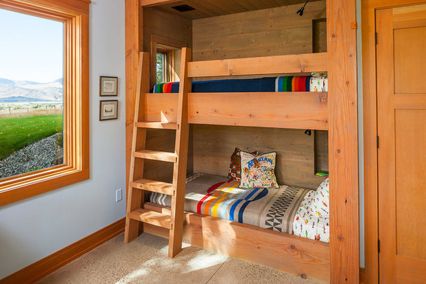 Rustic Bedroom by Dovetail Construction
