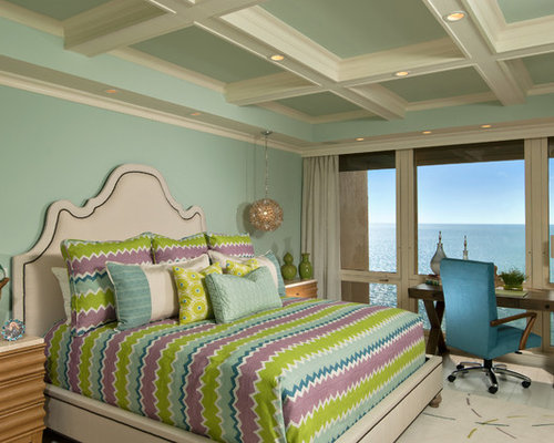 Peach mint purple bedroom design ideas pictures remodel for Peach bedroom decor