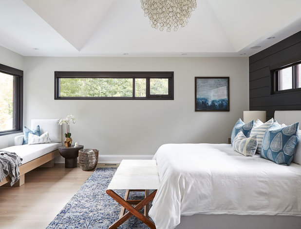 Transitional Bedroom by FOHR DESIGN STUDIO