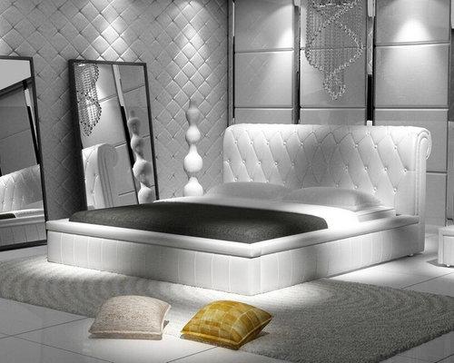 Chambre moderne avec un sol en carrelage de porcelaine : Photos et ...