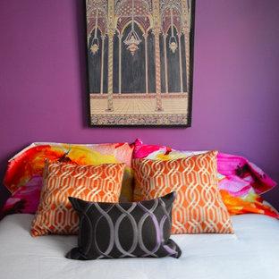 トロントのエクレクティックスタイルのおしゃれな寝室のレイアウト