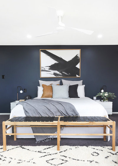 Contemporary Bedroom by Sess & Sass Design Co.
