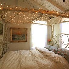 Eclectic Bedroom lighting