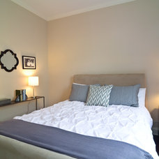Transitional Bedroom by Leslie Glazier @ Properties