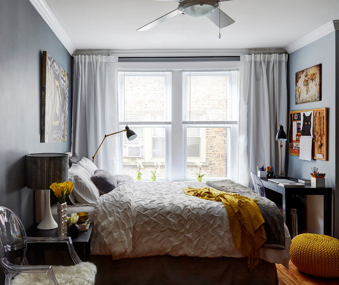 Transitional Bedroom by Orange Interiors