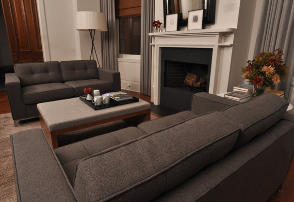 Transitional Living Room by Nicholas Moriarty Interiors