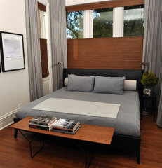 modern bedroom by Nicholas Moriarty Interiors
