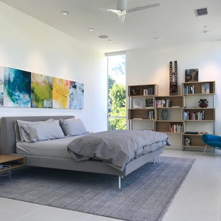 Inspiration for a contemporary bedroom remodel in San Diego