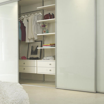 Linear White Gloss Sliding Wardrobe Doors
