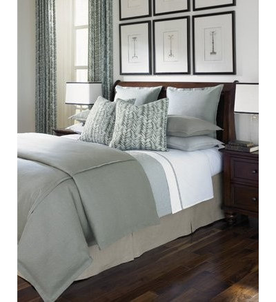 great color: soothing blue gray in the bedroom