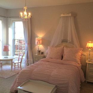 ナッシュビルの中サイズのモダンスタイルのおしゃれな寝室のレイアウト