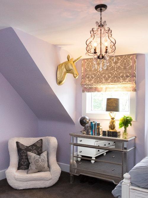 Gold Silver Purple Blue Bedroom | Houzz