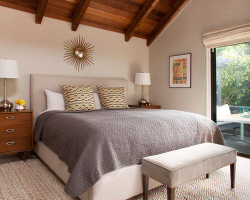 Upholstered bed with wood frame houzz Master bedrooms with upholstered beds