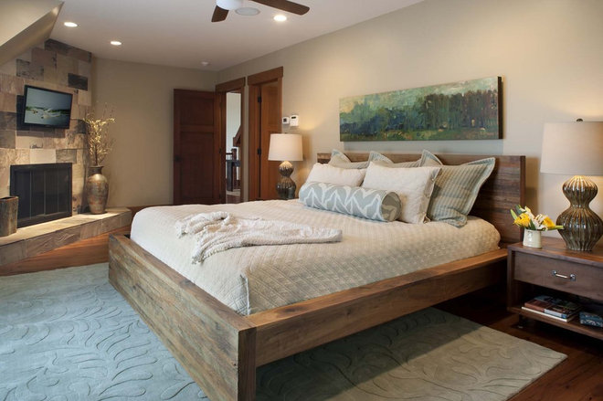 contemporary bedroom by Living Stone Construction, Inc.