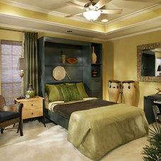 Eclectic Bedroom by Decorating Den Interiors