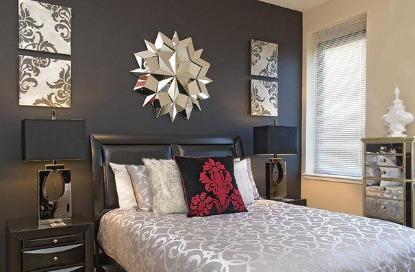 Modern Bedroom by Decorating Den Interiors