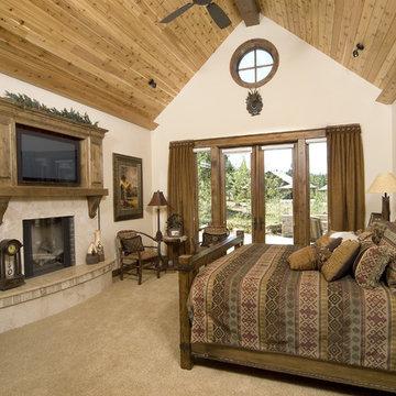 lodge style bedroom
