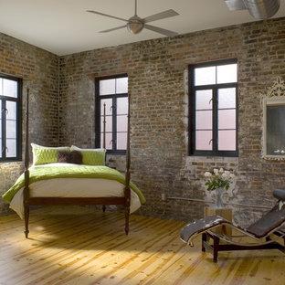 Loft apartment guest bedroom.