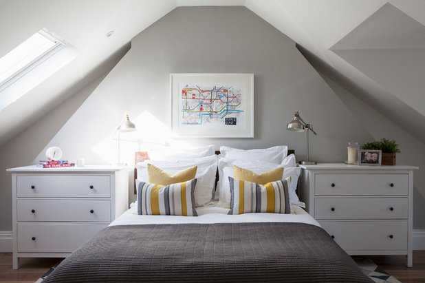 Transitional Bedroom by Saltbox Interiors London