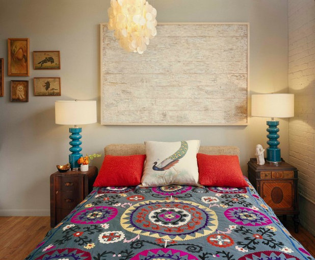 Eclectic Bedroom by Ondine Karady Design