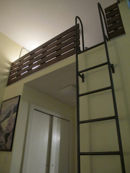 modern bedroom Loft Ladder