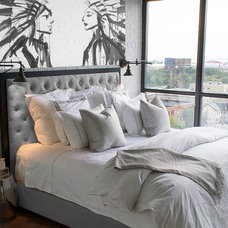Industrial Bedroom by Montana Labelle Design Inc