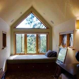 Loft window seat and office