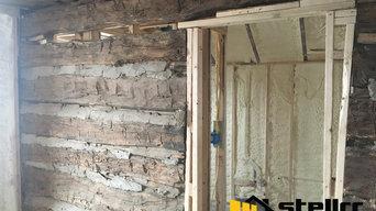 Log Cabin Spray Foam Insulation Austin TX Addition Install