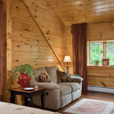 Bedroom by Coventry Log Homes