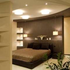 modern bedroom by Lompier Interior Group