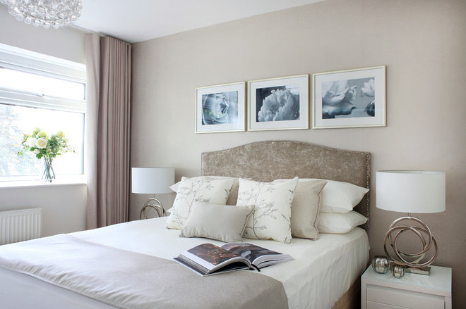 Transitional Bedroom by Alex Maguire Photography
