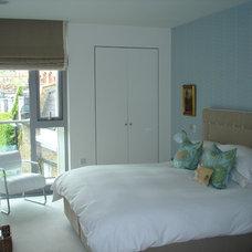 Contemporary Bedroom by Karen Heafitz Design