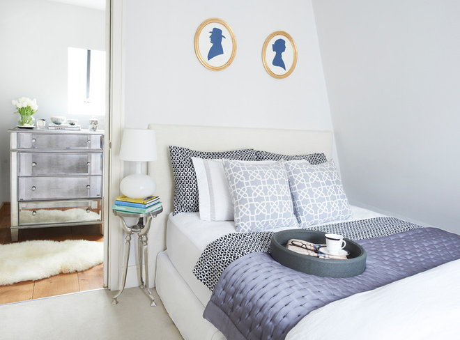 Transitional Bedroom by Sasha Meredith Designs