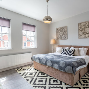 Photo of a contemporary bedroom in London.