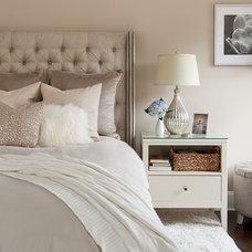 Transitional Bedroom by The Elegant Abode Interior Design