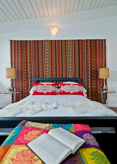 Eclectic Bedroom by Modern Mecca™ | Los Angeles Home Staging