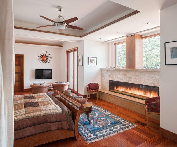 Contemporary Indoor Fireplaces by Conrado - Home Builders
