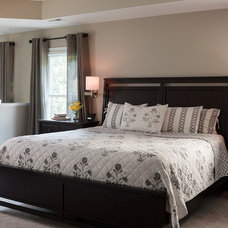 Transitional Bedroom by Cotton Hill Interiors and Staging