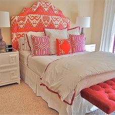 Eclectic Bedroom by Ashley Eckel Interior Design