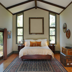 eclectic bedroom by EAG Studio