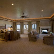 Mediterranean Bedroom by Macaluso Designs