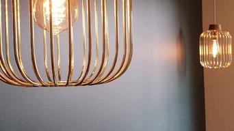 Luxe Gold Birdcage Pendants - Installation