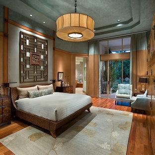 Inspiration For A Zen Master Medium Tone Wood Floor Bedroom Remodel In  Phoenix