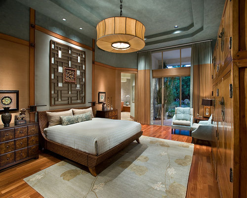 Exceptionnel Inspiration For A Zen Master Medium Tone Wood Floor Bedroom Remodel In  Phoenix