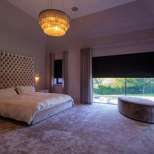 ロンドンのコンテンポラリースタイルのおしゃれな寝室